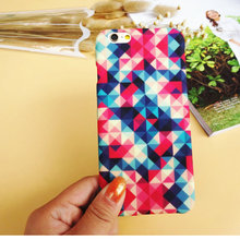 Colorful Square Phone case For Apple iPhone 5s 6s 6 plus PC Matte Mobile Phone Cover for iPhone