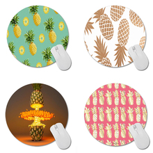 Pineapples Art Print Mouse Pad Anti-Slip Round Mousepad Gift Gaming Speed Mice Mats