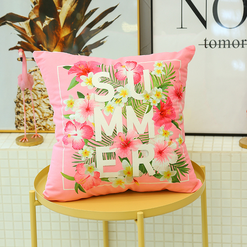 Cute Flamingo Cushion Pillow Case Flamingo Party Bedroom Sofa Home Decoration accessories Birthday/Wedding Favors and Gifts 5
