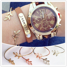New fashion accessories jewelry copper tree leaf cuff bangle for women girl nice gift B3294