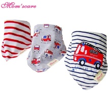 3pcs/lot Baby Bibs Bandana Lot 100% Cotton High Quality Babadores Para Bebe Infant Saliva Towel For Boys And Girls KF025