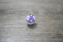 30pcs/lot 13mm  Resin Cabochon Cute purple Mushroom  DIY Cell Phone Deco Jewelry Making Finding Key chain