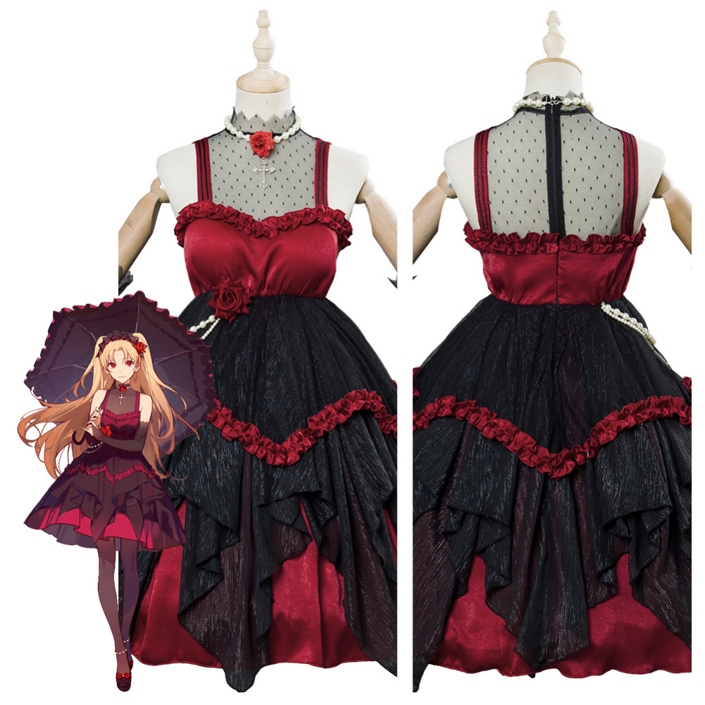 FGO Fate Grand Order Cosplay Ereshkigal Rin Dress Gown Cosplay Costume Doujin OutfitHalloween Carnival Cosplay Costumes