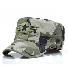 2017 New Men Snapback Caps Vintage Army Hat Cadet Patrol Cap Adjustable Five Pointed Star Flat Top Camouflage Hats