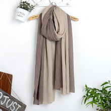 Popular Brand Women Shawls and Wraps Winter Plain Wrinkle Cotton Scarf Echarpe Mulher Viscose Pashmina Hijab Beach Shemagh Cape