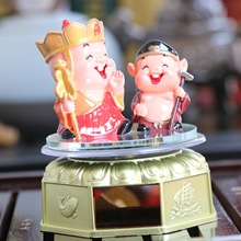 Solar Energy Journey To The West Chief Characters Dolls Rotatable Automobile Decoration Tang Monk and Pig Festival Souvenir