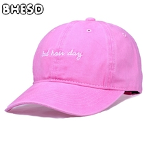BHESD 2017 Bad Hair Day Pink Baseball Cap Women Men Snapback Cotton dad Hat Casual Sun hats Bone Vintage Casquette Gorras JY-452