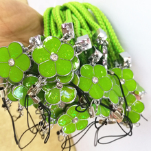 Luxury Mobile Phone Straps Lanyard Accessories Lobster Clasp Hang lanyards for keys ID Cards Sports Nylon Weave Lanyards Flowers