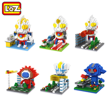LOZ Anime Ultraman Tiga Dyna Gaia GANQ Kyrieloid Himala Model Toy Building Block Action Figure Toy Limited Collection(China)