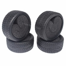 4pcs 1.02'' (26mm) RC Tires With Foam Sponge Inserts OD:63mm ID:52mm For RC 1:10th On Road Touring Racing Model Car Tyres(China)