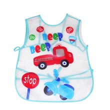 Baby Aprons Kids Pattern EVA Transparent Feeding Clothes Feed Food Baby Bibs Waterproof Cartoon