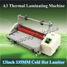 "A3 13"" Cold Thermal Hot Cold Laminating Machine Mounting Roll Laminator Bopp Film(China)"