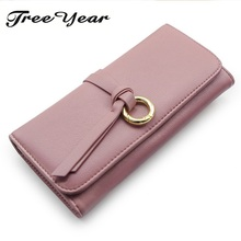 2017 New Design High Quality Fashion Girls Purse Card Holder Long Clutch Large Organizer Wallets Dollar Price Hasp Coin Purses(China)