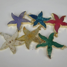 3pcs Freeshipping Druzy Stone Star Charms Point Pendants, Jewelry Necklace Making Finding Beads