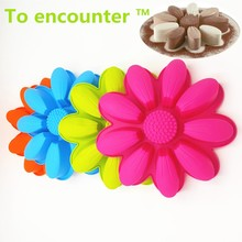 To encounter 27*5CM 185G Big and Beautiful Sunflower 3D Silicone Cake Molds Baking Tools cake decorating tool