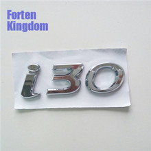 Forten Kingdom Word i30 Rear Trunk Emblem Custom ABS Plastic Chrome Sticker Auto Tail Nameplate Badge For Car Styling Label