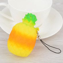 Mayitr Super Squishy Pineapple Fruit Phone Strap Slow Rising Charm Cream Bread Cake Decor Release Stretch Scented Kid Toys Gift(China)