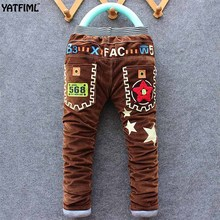 YATFIML 2017 Autumn Winter Boys casual thick pants for kids cotton warm Children's trousers Boys girls corduroy long pants(China)