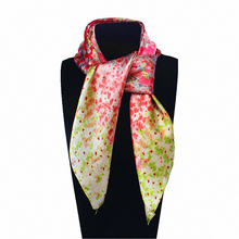 Imitated Silk Korea and Japanese Sweet Style Small Flower shivering 60cm*60cm Square Scarf Woman Headband Hijab