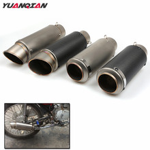 FOR Laser Marking R3 Motorcycle Exhaust Pipe Scooter Modified R3 Exhaust Muffler Pipe For Yamaha YBR TTR 125 YZF R125 R6 R1 600