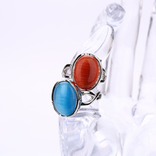 Female Punk Retro Wedding Rings Boho Vintage Unique Opal Rings Women's Accessories Jewelry Large Natural Stone Party Rings Sale