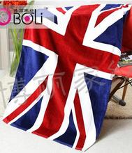 50pcs/lot fedex fast free shipping High quality Printed National American Canada England Flag 100%Cotton Soft Beach Towel(China)