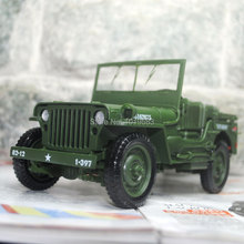 YJ 1/18 Scale World War II U. S. Army Willys JEEP Diecast Metal Car Model Toy New In Box For Collection/Gift/Kids