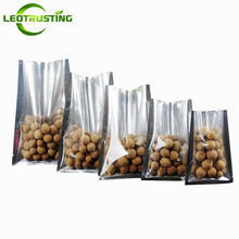 Leotrusting 500pcs Small One Side Clear Open Top Foil Vacuum Bag Plastic Food Nuts Snack Heat Seal Package Pouch Fresh-kept Bag