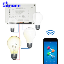 Sonoff 4CH Smart Remote Control Wireless Switch Module WiFI Home Automation Module on/off Wireless Timer Smart Home