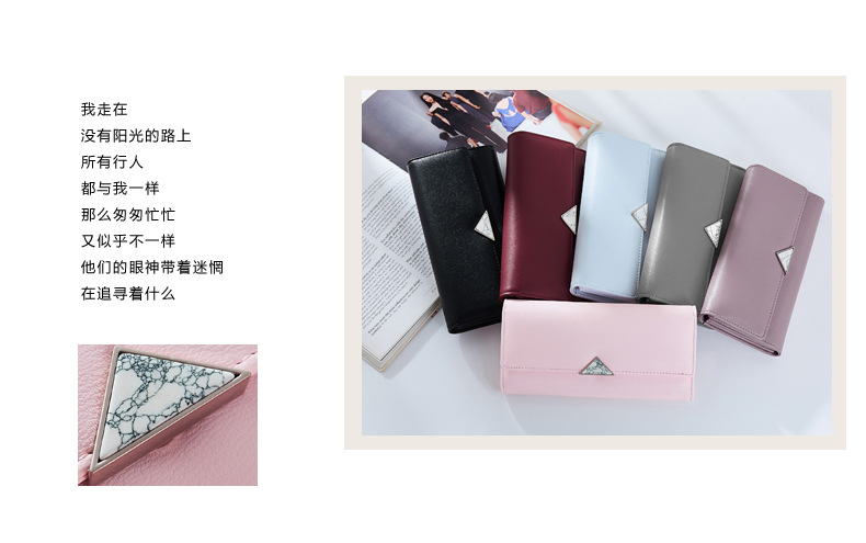 0172 merek 2017 versi Korea panjang dompet WEICHEN panjang gesper multi-card dompet sederhana busana Eropa dan amerika