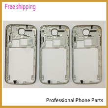 Original Silver/gold/black Middle Frame Housing Case Replacement Part Bezel For Samsung Galaxy S4 I9500 I337 i9505 with logo