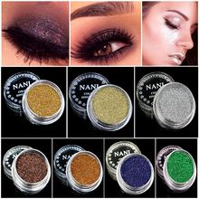 4Pcs/set Mixed Colors Glitter Eyeshadow Powder Pigment Mineral Spangle Makeup Cosmetic Set Long-lasting Eye Shodow Makeup Tools(China)