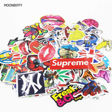 MOONBIFFY 50 pcs Funny Car Stickers on Motorcycle Suitcase Home Decor Phone Laptop Covers DIY Vinyl Decal Sticker Car styling