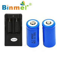 2x 2000mAh 16340 Rechargeable Li-ion Battery For LED Flashlight+CR123A Charger Wholesale Price Hot Drop 17Otc13(China)