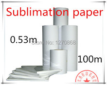 0.53m wide Cheap wholesale heat transfer paper heat transfer Dye sublimation paper(China)