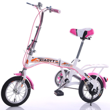 2017 Promotion Rushed Bead Pedal 0.03 M3 11kg 1.33 Double V Brake 12 Inch 16 Children Folding Bike Light Mini Student Cycling(China)