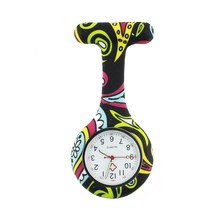 ALK VISION FOB Silicone Nurse Watch for Doctor Nurse Gift Cow Pattern Japan Movt High Quality Brand Hospital Nurse Pocket Watch(China)