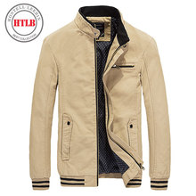 HTLB 2017 Brand New Spring Autumn Men Casual Jacket Coat Men's Fashion Washed 100% Pure Cotton Brand-Clothing Jackets Male Coats(China)