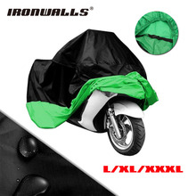 L/XXL/XXXL Motorcycle Waterproof Cover Black Green Protector For Honda Suzuki Yamaha Kawasaki Harley Touring Motocross Scooter