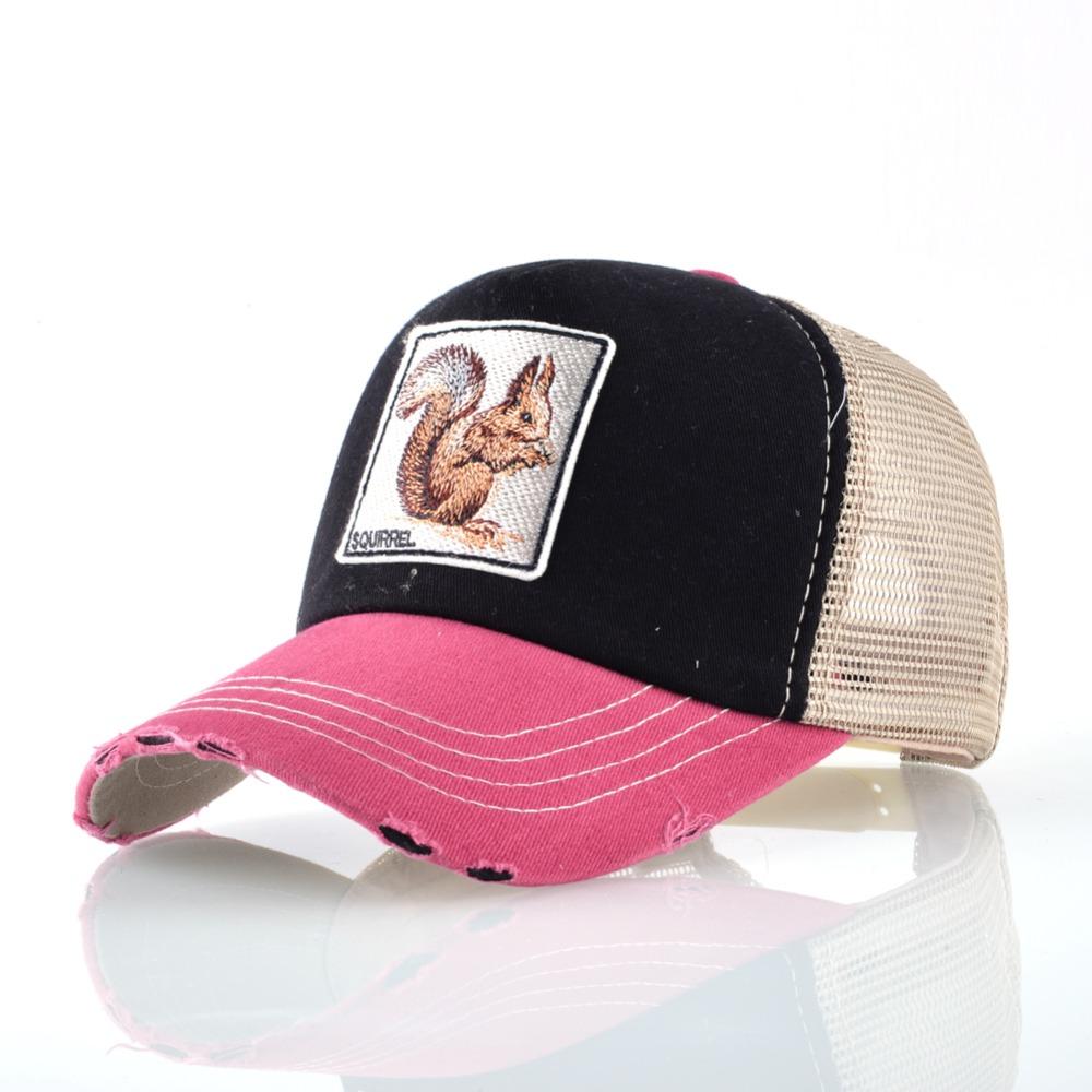 Fashion Unisex Patch Bones Wolf Embroidery Hip Hop Hats Breathable Mesh Baseball Caps Men Women Casquette Summer Trucker Gorras 8