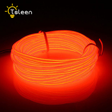 TSLEEN Neon Light Dance Party Decor Light Neon LED Ribbon Lamp Flexible EL Wire Rope Tube Waterproof LED Strip With Controller(China)