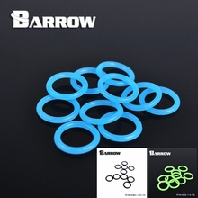 Barrow G1 / 4 Universal water cooling Luminescent  Blue silicone Seal O-ring 10pcs/ set water cooler PC accessories