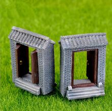 resin  Moss green tile surface micro landscape creative green plant zakka resin door (open) decorative furnishing articles