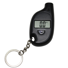Black Keychain LCD Digital Tire Tyre Air Pressure Gauge For Car Auto Motorcycle + Battery