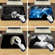 MaiYaCa Animals Grayscale Wolves Funny Custom Mouse Pad for Size 18*22cm and 25*29cm