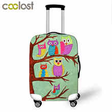 Hot Suitcase Cover Animal Travel Accessories Cute 3D Owl Luggage Protective Covers For 18-30 Inch Suitcase covers