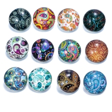 12pcs/lot Mixed Colors Exotic 18mm Glass snap button Jewelry Faceted glass Snap Fit snap Bracelet snaps jewelry KZ0088(China)