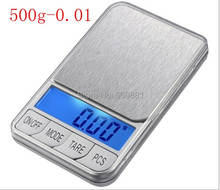 500g 0.01 LCD Electronic Scales 500g 0.01g Digital Pocket Jewelry Scale Large Stainless Steel Platform Weight Balance+7 Units