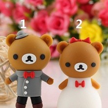 USB Flash Drive Pendrive pen drive 4GB 8GB 16GB 32GB silicone U Disk memory stick Rilakkuma bear marry wedding Cartoon Gift