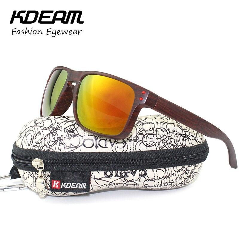 KDEAM Brand UV400 Protection Men Sunglasses Sport Square Frame Sun Glasses Women Reflective Coating lens With Hard Case KD9102<br><br>Aliexpress
